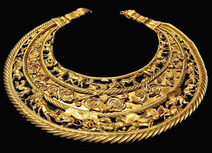 Крымские скифские украшения из золота