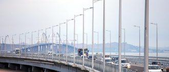 Движение по Крымскому мосту в 2018 году