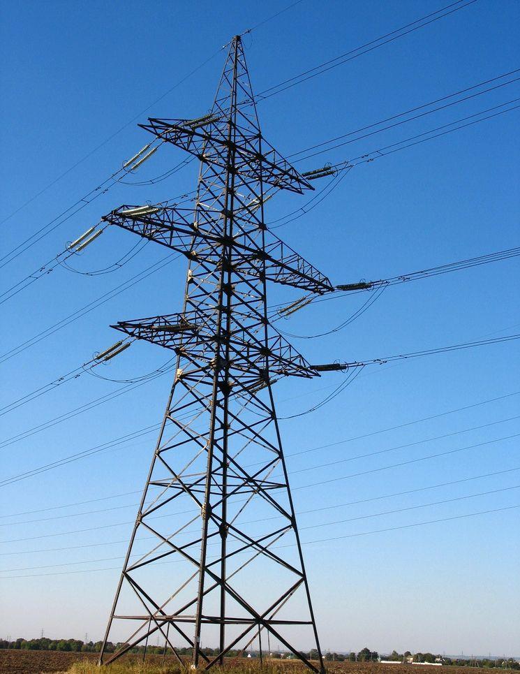 Линия электропередач в Крыму