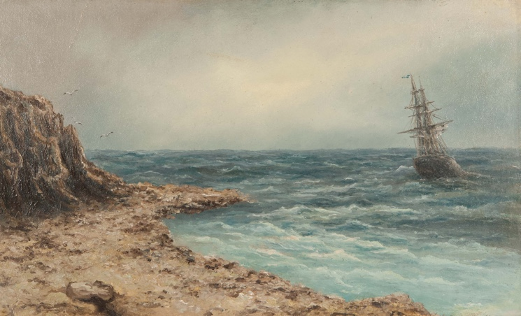 Морской пейзаж художника Эммануила Магдесяна
