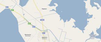 Карта Северного Крыма