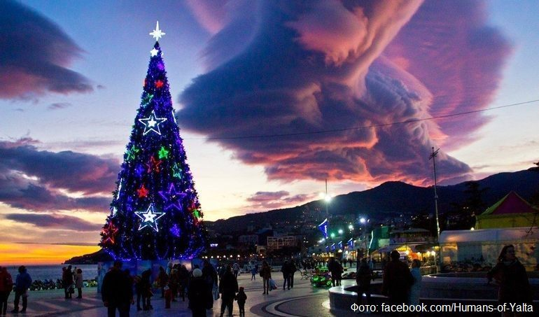 Новогодняя ёлка в Ялте