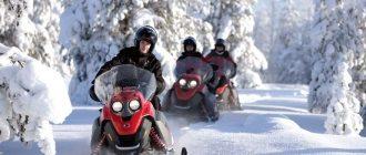 Прогулки на снегоходах в Крыму