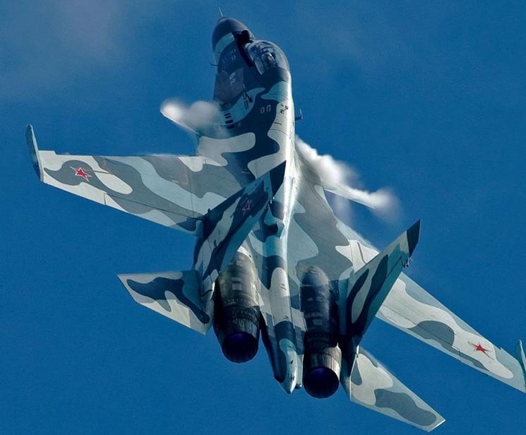 Русские истребители Су-30 в Крыму