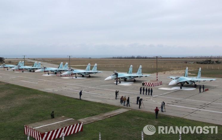 Русские истребители на аэродроме Бельбек
