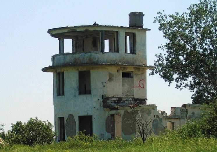 Старый военный аэродром Багерово в Крыму