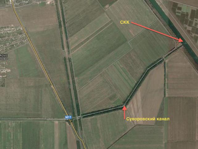 Расположение Суворовского канала