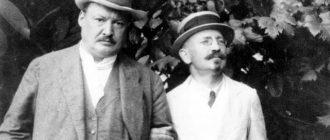 А. К. Глазунов и А. А. Спендиаров (справа)