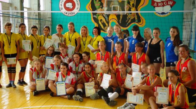 Волейбольная команда ДЮСШ города Армянск