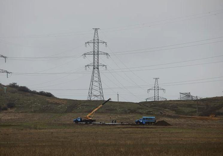 Строительство энергомоста в Крыму