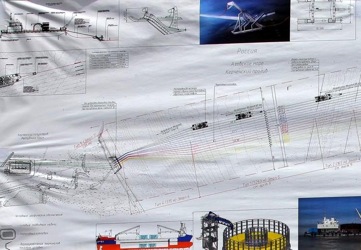 Строительство энергомоста в Крым через Креченский пролив