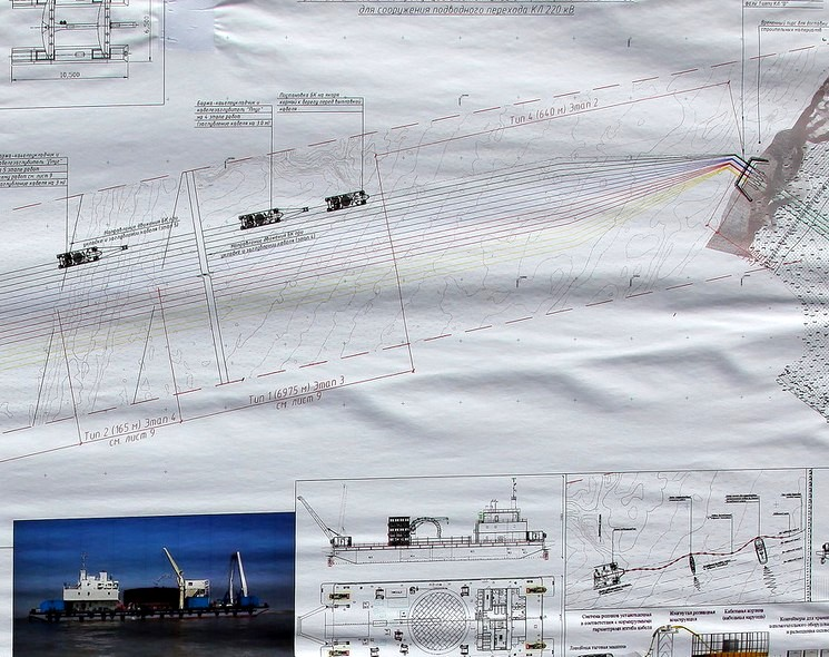 Строительство энергомоста в Крым 2015