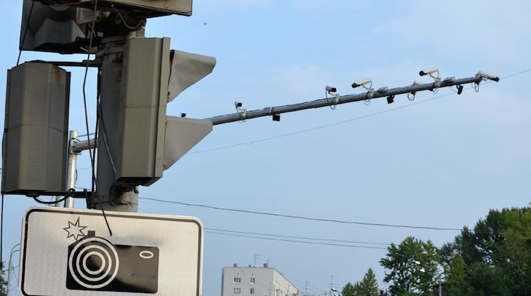фиксация нарушения ПДД камерой видеонаблюдения