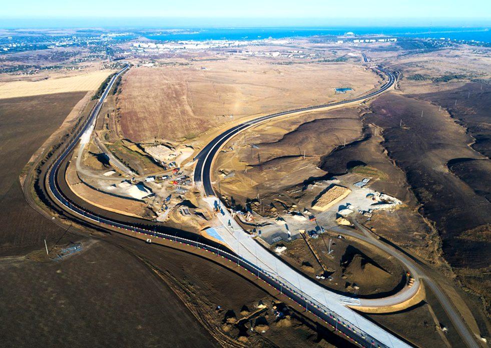 Строительство трассы Таврида Р-260 в Крыму