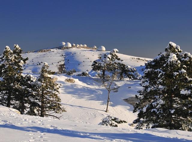 Зимний пейзаж Крымских гор